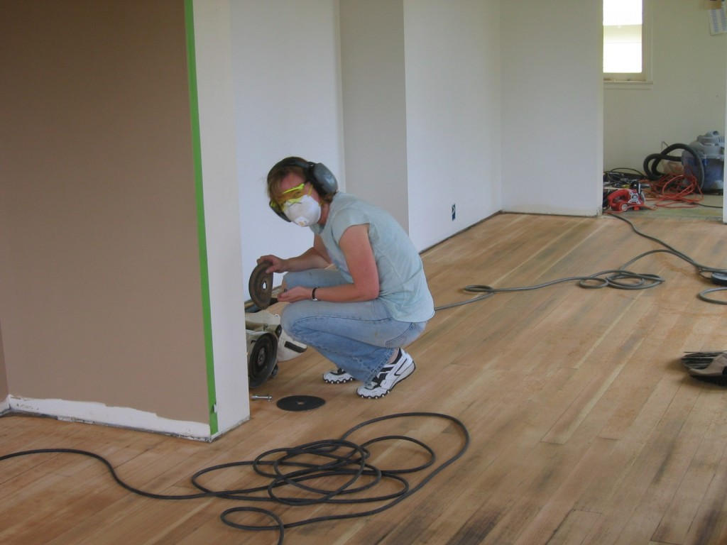 Dining room remodel: refinishing the floors