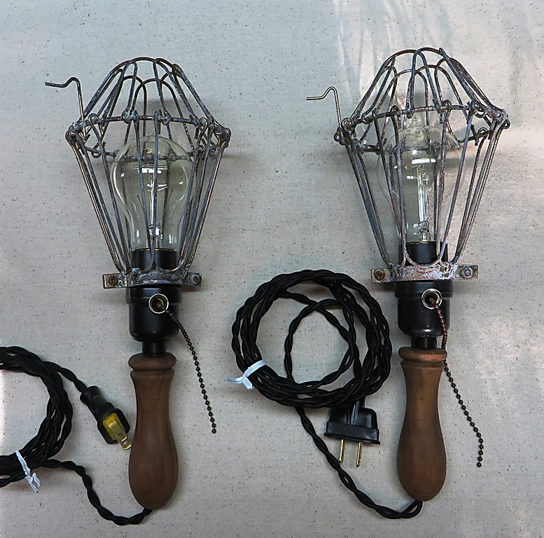 Vintage lighting - reproduction trouble lights