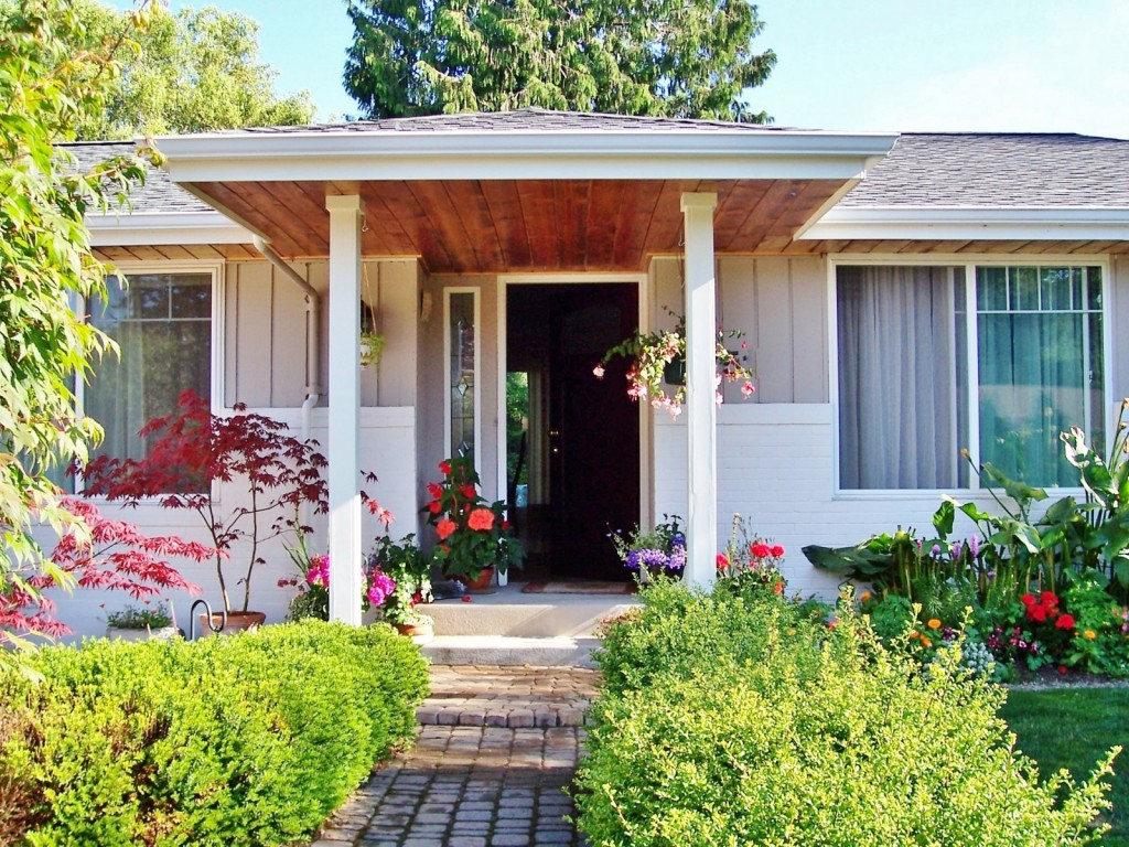Adding curb appeal - new portico