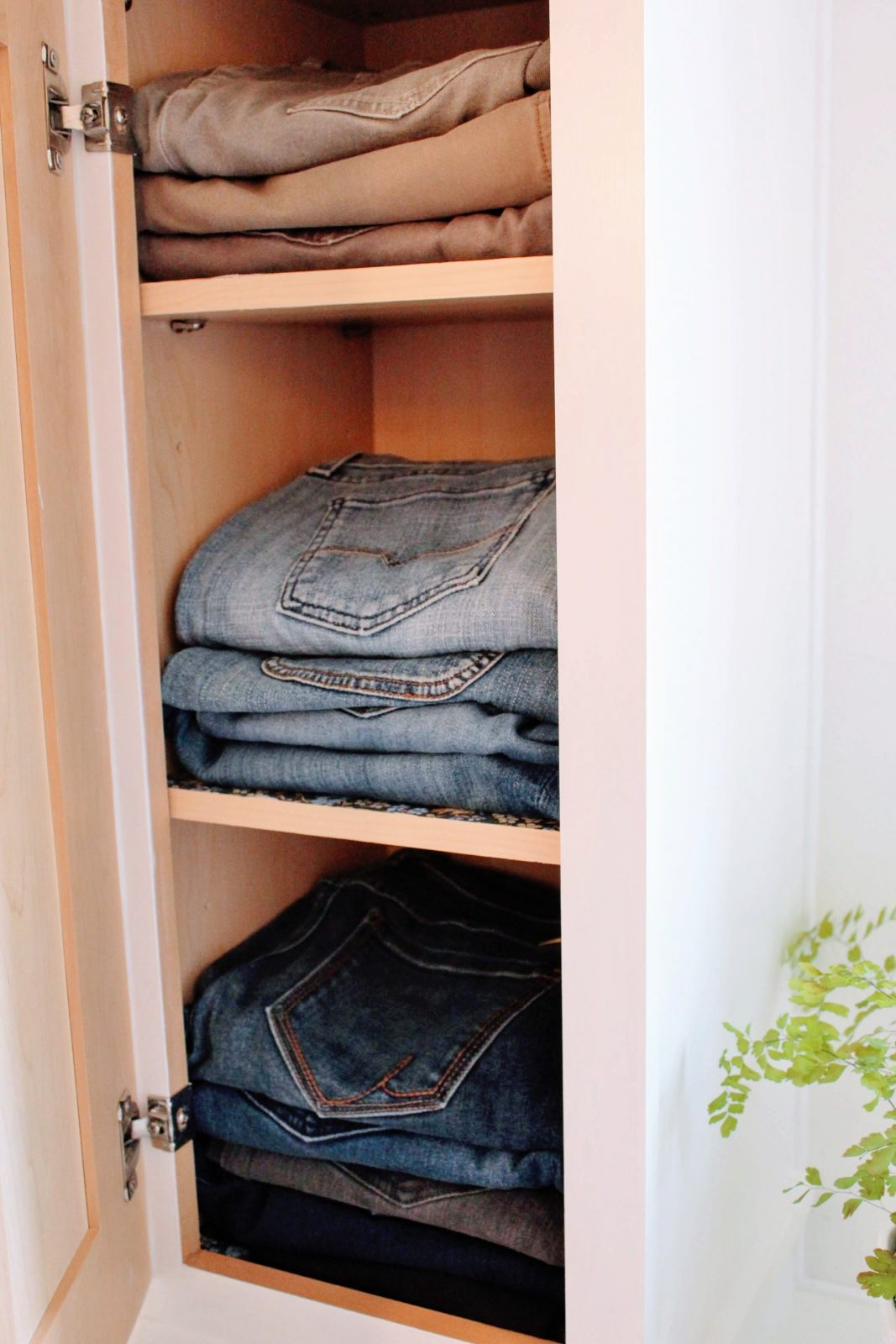 organizing jeans