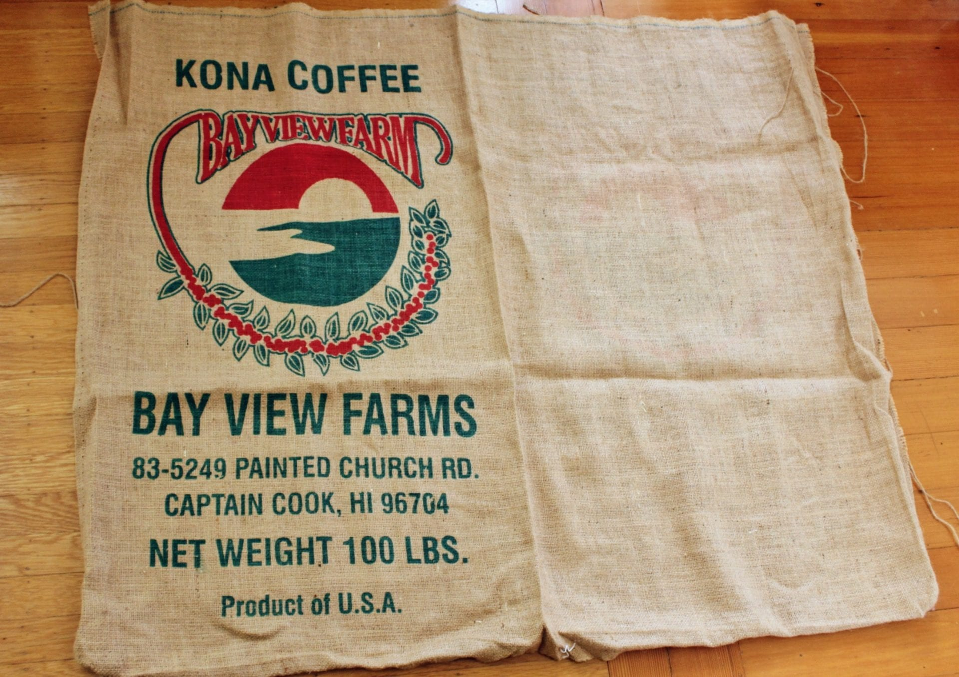 burlap coffee sack repurpose